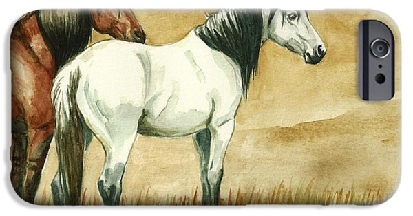 Llmartin iPhone Cases - Kiger mares iPhone Case by Linda L Martin