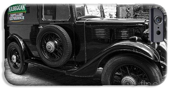 Greyscale iPhone Cases - Kilbeggan distillerys old car iPhone Case by RicardMN Photography
