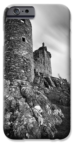 Pathway iPhone Cases - Kilchurn Castle iPhone Case by Dave Bowman