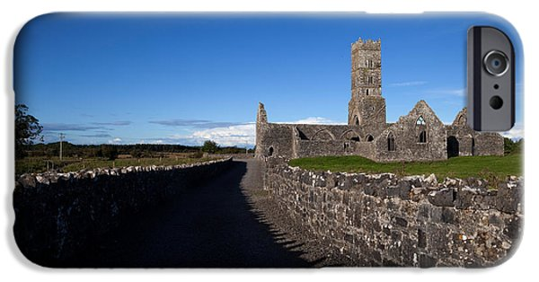 Old Country Roads Photographs iPhone Cases - Kilconnell Friary Founded In 1353 iPhone Case by Panoramic Images