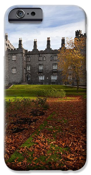 19th Century iPhone Cases - Kilkenny Castle - Rebuilt In The 19th iPhone Case by Panoramic Images