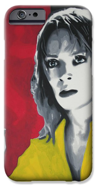 Quentin Tarantino iPhone Cases - Kill Bill 2013 iPhone Case by Luis Ludzska