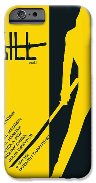 Kill Bill iPhone Cases - Kill Bill Vol.1 Poster  iPhone Case by Geraldinez
