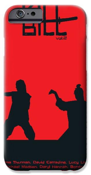 Kill Bill iPhone Cases - Kill Bill Vol.2 Poster iPhone Case by Geraldinez