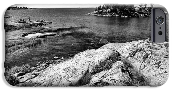 Killarney Provincial Park iPhone Cases - Killarney Rock Islands iPhone Case by Charline Xia
