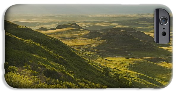Dave iPhone Cases - Killdeer Badlands In The East Block Of iPhone Case by Dave Reede