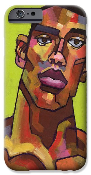 Portrait Paintings iPhone Cases - Killer Joe iPhone Case by Douglas Simonson