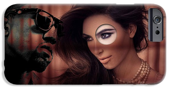 At Arrivals iPhone Cases - Kim And Kanye iPhone Case by Marvin Blaine