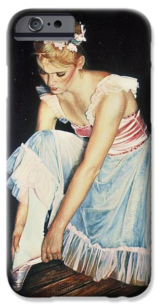 Ballet Of Colors iPhone Cases - Kim At Her Dress Rehersal iPhone Case by James Welch
