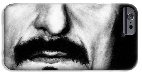 Kim Drawings iPhone Cases - Kim Coates as Tig Trager iPhone Case by Rick Fortson
