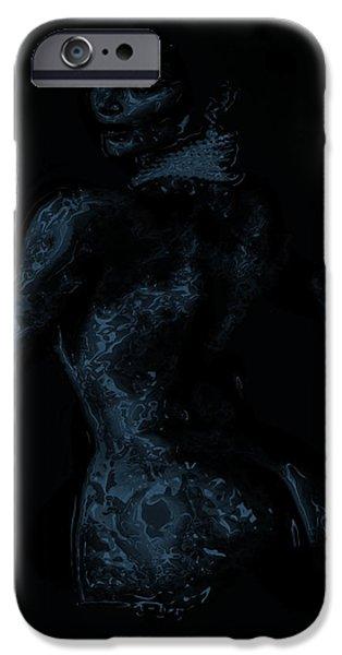 Kim Digital Art iPhone Cases - Kim Kardashian 1a iPhone Case by Brian Reaves