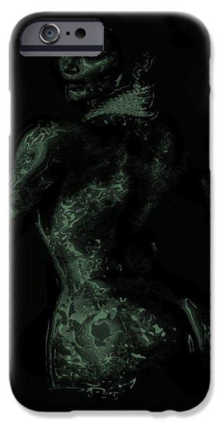 Kim Digital Art iPhone Cases - Kim Kardashian 1b iPhone Case by Brian Reaves
