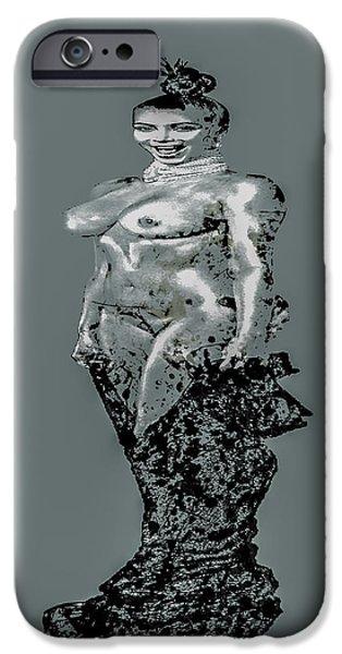 Kim Digital Art iPhone Cases - Kim Kardashian Surprise iPhone Case by Brian Reaves