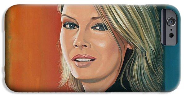America Paintings iPhone Cases - Kim Wilde iPhone Case by Paul  Meijering
