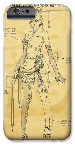 Kim Digital Art iPhone Cases - Kim Wu iPhone Case by Zeymar Olszewski