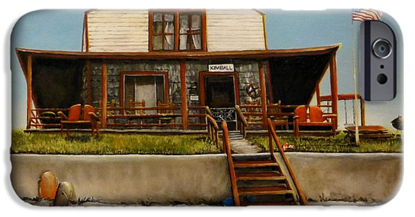 Recently Sold -  - Michelle iPhone Cases - Kimball Cottage Wells Maine iPhone Case by Michelle Iglesias