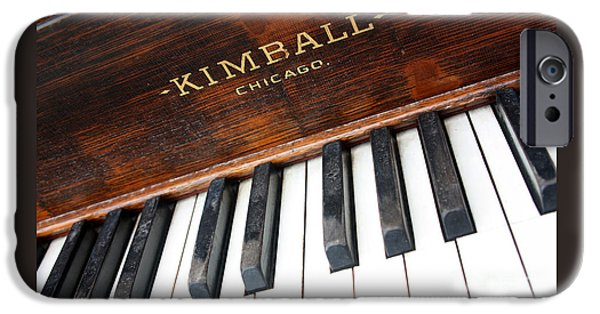 Piano iPhone Cases - Kimball Piano-3479 iPhone Case by Gary Gingrich Galleries