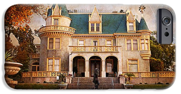 Haunted House iPhone Cases - Kimberly Crest Manor - Vintage View iPhone Case by Glenn McCarthy
