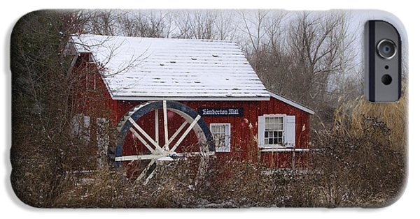 Wintertime iPhone Cases - Kimberton Mill - Wintertime iPhone Case by Bill Cannon