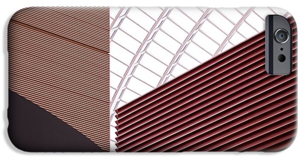 Modern Architecture iPhone Cases - Kimmel Center Geometry iPhone Case by Rona Black
