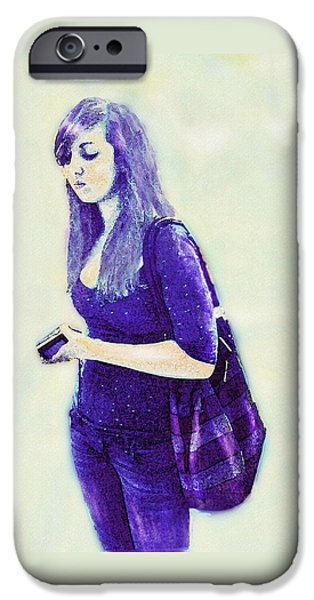 kind of blue iPhone Case by Jane Schnetlage