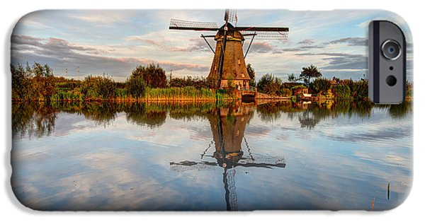 Nederland iPhone Cases - Kinderdijk iPhone Case by Chad Dutson
