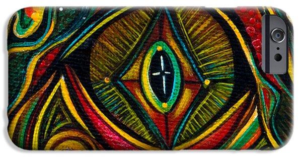 Third Eye Paintings iPhone Cases - Kindness Spirit Eye iPhone Case by Deborha Kerr