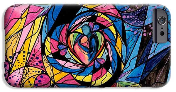 Healing Paintings iPhone Cases - Kindred Soul iPhone Case by Teal Eye  Print Store