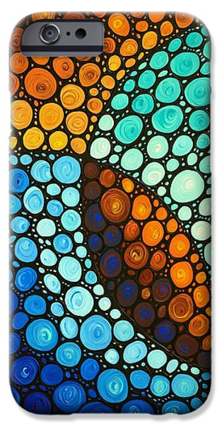 Geometrical iPhone Cases - Kindred Spirits iPhone Case by Sharon Cummings