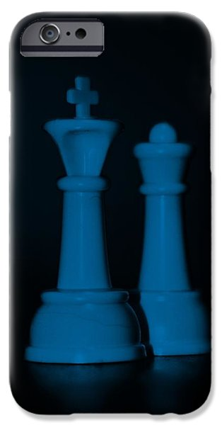 KING AND QUEEN in BLUE iPhone Case by ROB HANS
