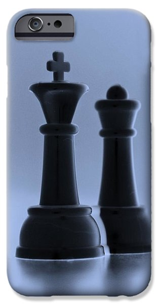 KING AND QUEEN in CYAN iPhone Case by ROB HANS