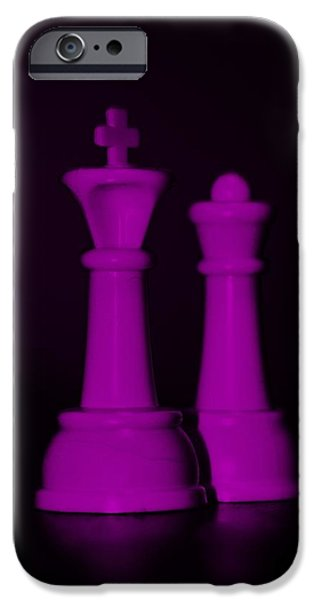 KING AND QUEEN in PINK iPhone Case by ROB HANS