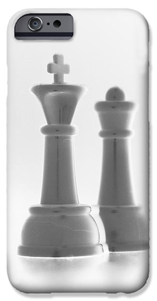 KING AND QUEEN in PURE WHITE iPhone Case by ROB HANS