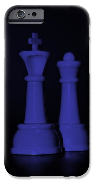 KING AND QUEEN in PURPLE iPhone Case by ROB HANS