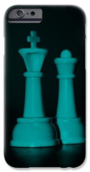 KING AND QUEEN in TURQUOIS iPhone Case by ROB HANS