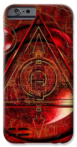 King Crimson iPhone Case by Franziskus Pfleghart