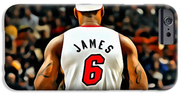 Lebron iPhone Cases - King James iPhone Case by Florian Rodarte