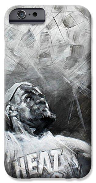 King James LeBron iPhone Case by Ylli Haruni