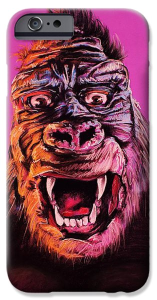 Empire State Pastels iPhone Cases - King Kong iPhone Case by Brent Andrew Doty