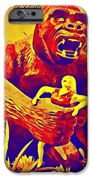 Halifax Art Work iPhone Cases - King Kong iPhone Case by John Malone