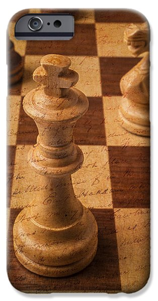 Strategy iPhone Cases - King Of Chess iPhone Case by Garry Gay