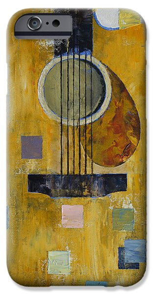 Michael Paintings iPhone Cases - King of Guitars iPhone Case by Michael Creese