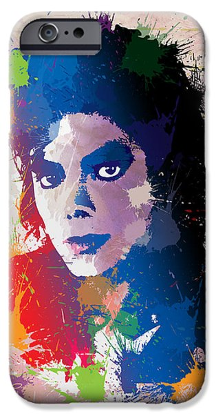 King of Pop iPhone Case by Anthony Mwangi