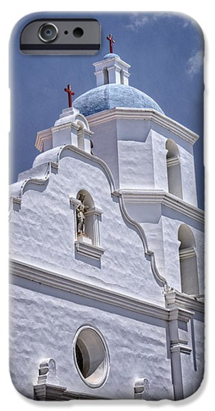 Religious iPhone Cases - King of the Missions iPhone Case by Joan Carroll