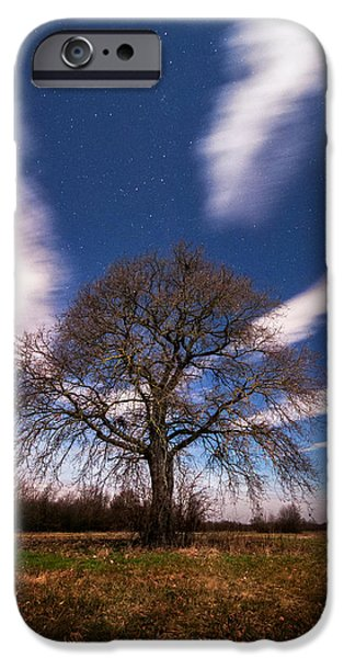 Moonscape iPhone Cases - King of the night iPhone Case by Davorin Mance