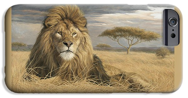 Lion iPhone Cases - King Of The Pride iPhone Case by Lucie Bilodeau