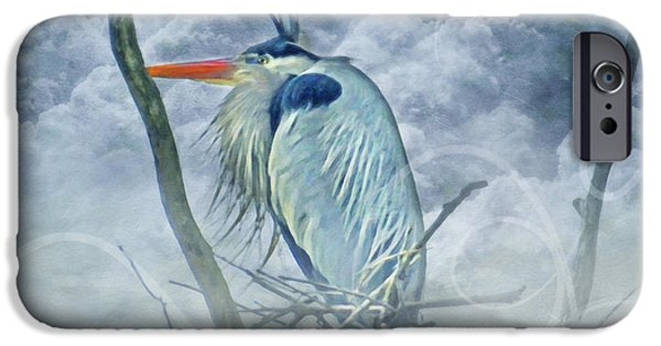 Airbrush Mixed Media iPhone Cases - King Of The Sky iPhone Case by Georgiana Romanovna