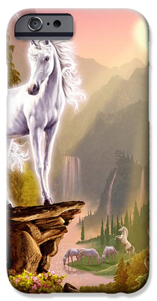 Extinct And Mythical Photographs iPhone Cases - King of the Valley iPhone Case by Garry Walton