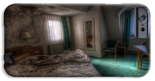 Haunted House Digital Art iPhone Cases - King size bed iPhone Case by Nathan Wright