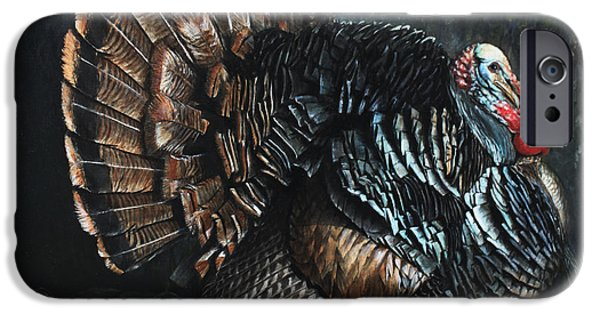 Gobbler iPhone Cases - King Strut iPhone Case by Rob Dreyer AFC